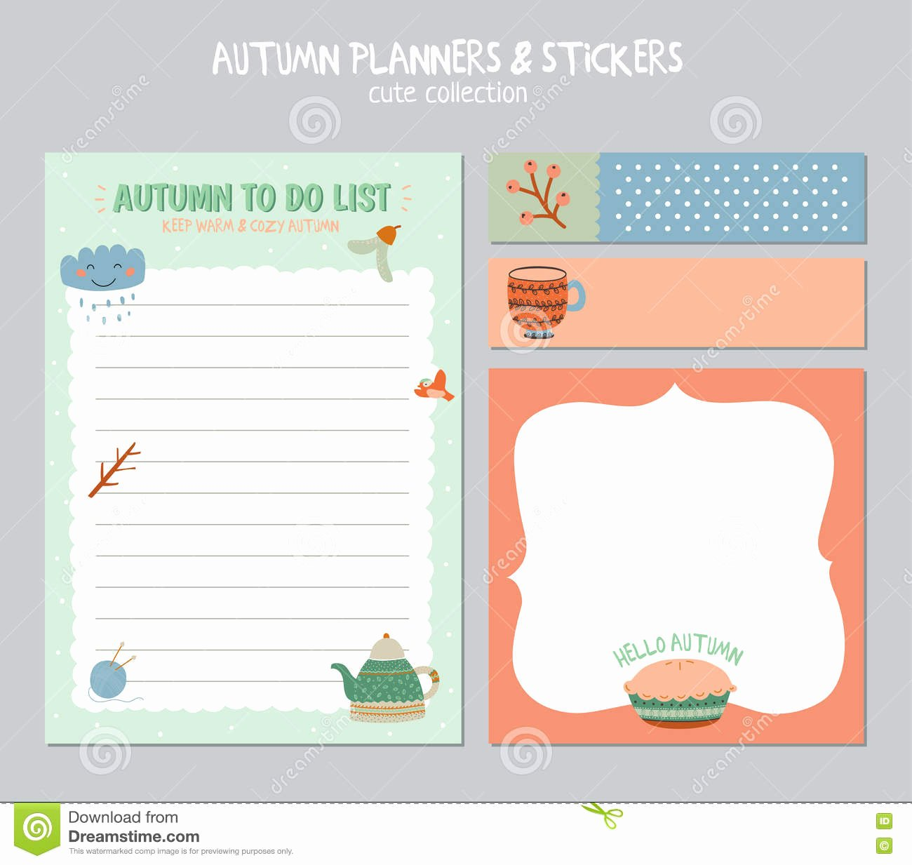 Cute to Do List Template Inspirational Cute Daily Calendar and to Do List Template Stock Vector