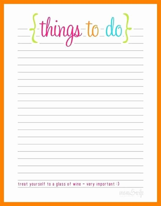 Cute to Do List Template Inspirational Free Printable to Do List Templates