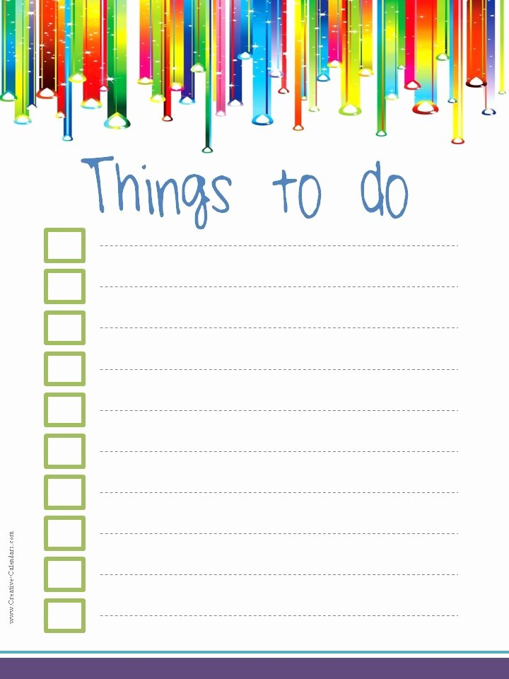 Cute to Do List Template Inspirational to Do List Template