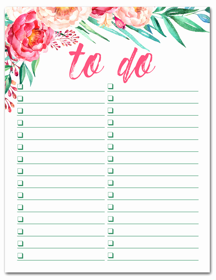 Cute to Do List Template Lovely Free Printable Watercolor to Do List I Should Be Mopping