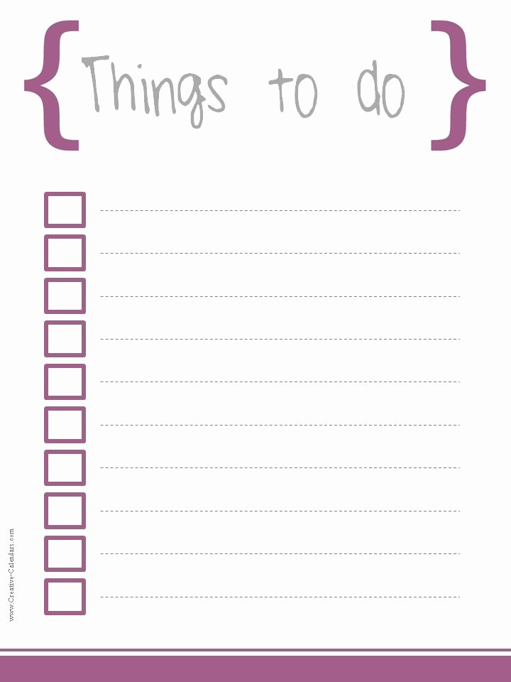 Cute to Do List Template Word Awesome to Do List Template