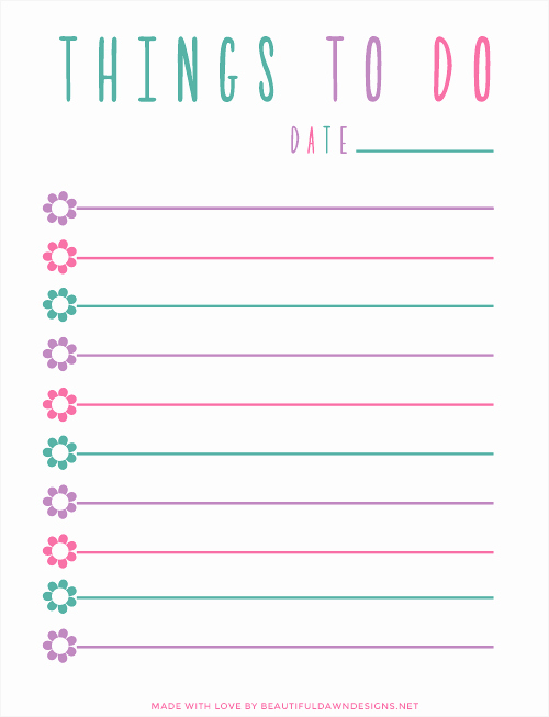Cute to Do List Template Word Inspirational Your End Of Semester to Do List – Uconn Center for Career