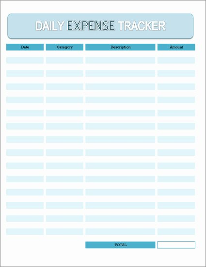 Daily Budget Template Excel Awesome Free Daily Expense Tracker Excel Spreadsheet and Printable