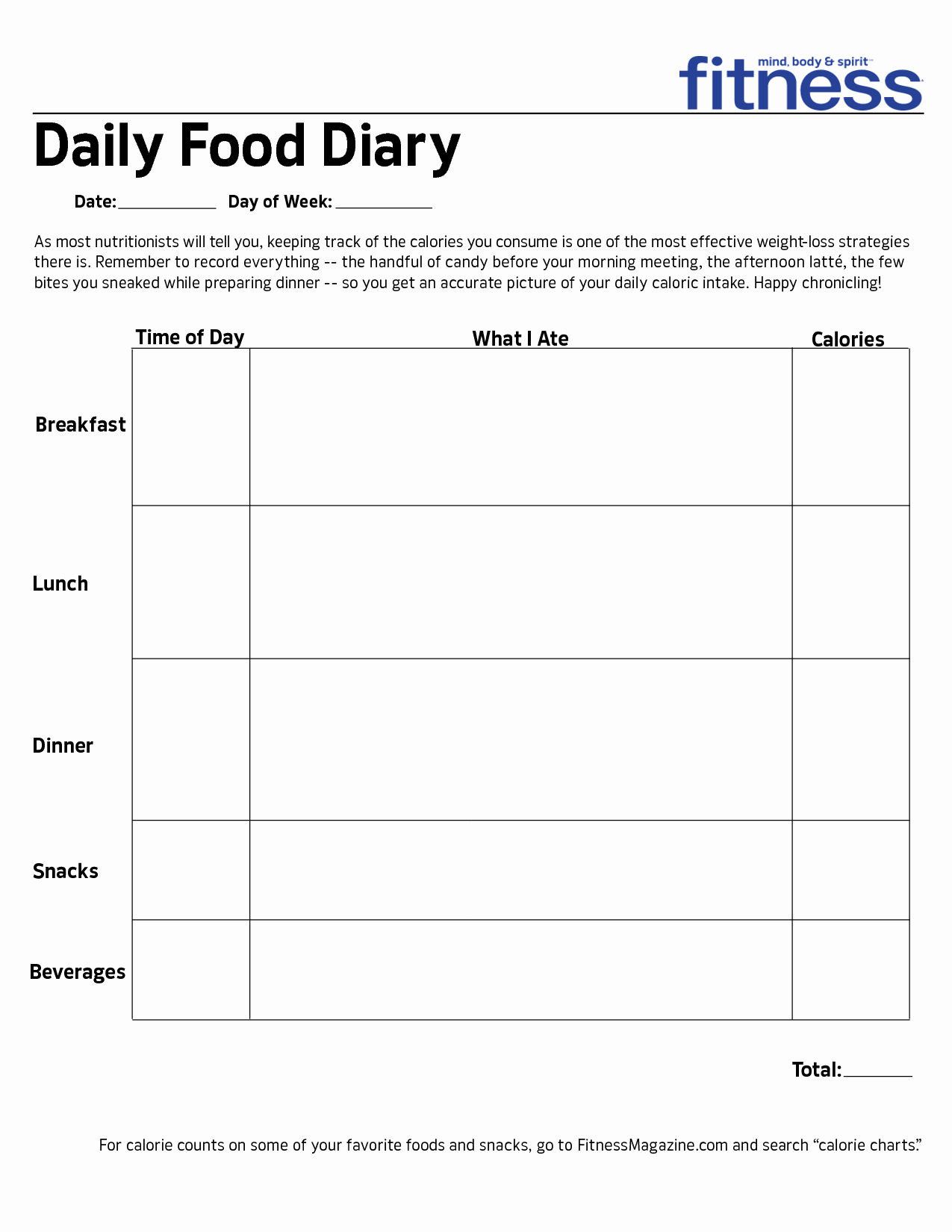 Daily Food Intake Chart New Best S Of Printable Daily Food Intake Chart