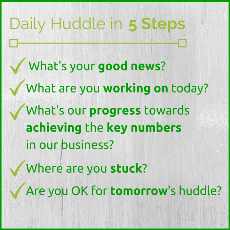 Daily Huddle Template Best Of Team Productivity the Daily Huddle