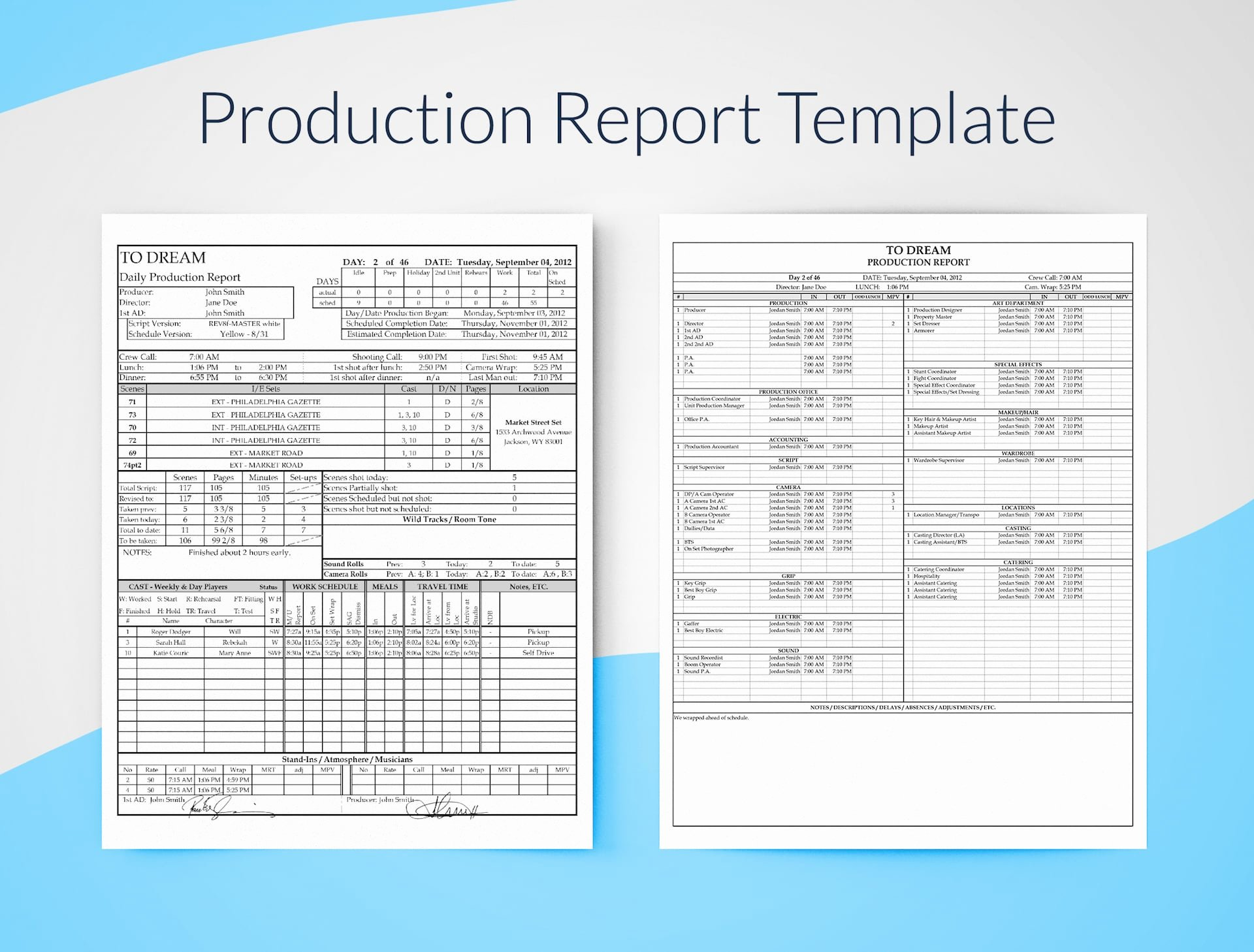 Daily Production Report Template Excel Awesome Daily Production Report Excel Template Free Download