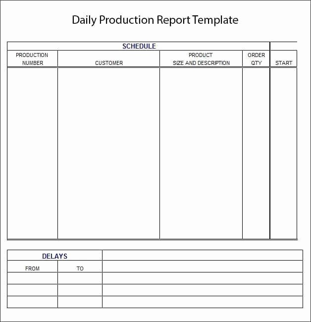 Daily Production Report Template Excel Beautiful 10 Daily Report Templates Word Excel Pdf formats