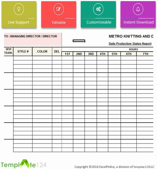 Daily Production Report Template Excel Best Of Daily Production Status Report Template Excel