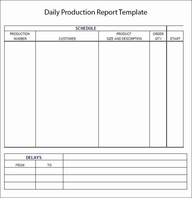 Daily Production Report Template Excel Best Of Daily Report Template Daily Report format