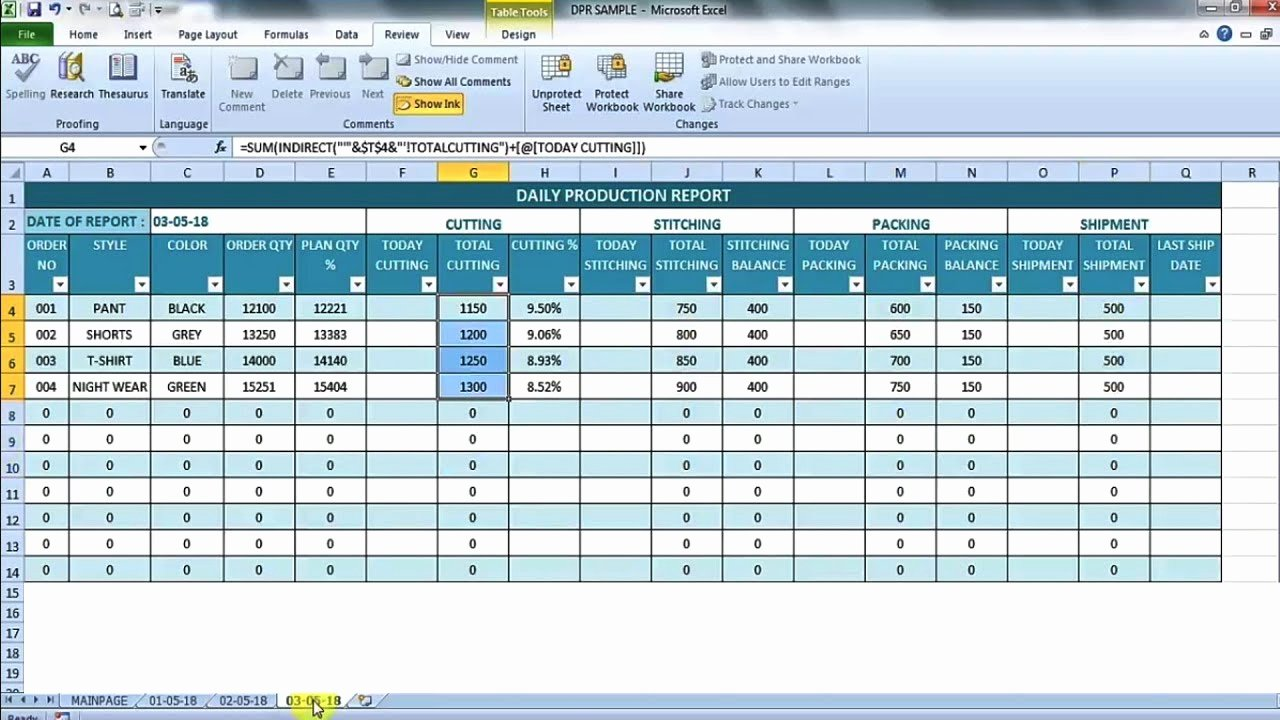 Daily Production Report Template Excel New Daily Production Report In Excel