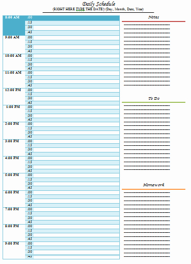 Daily Routine Schedule Template Best Of Daily Schedule Template 5 Free Templates Schedule