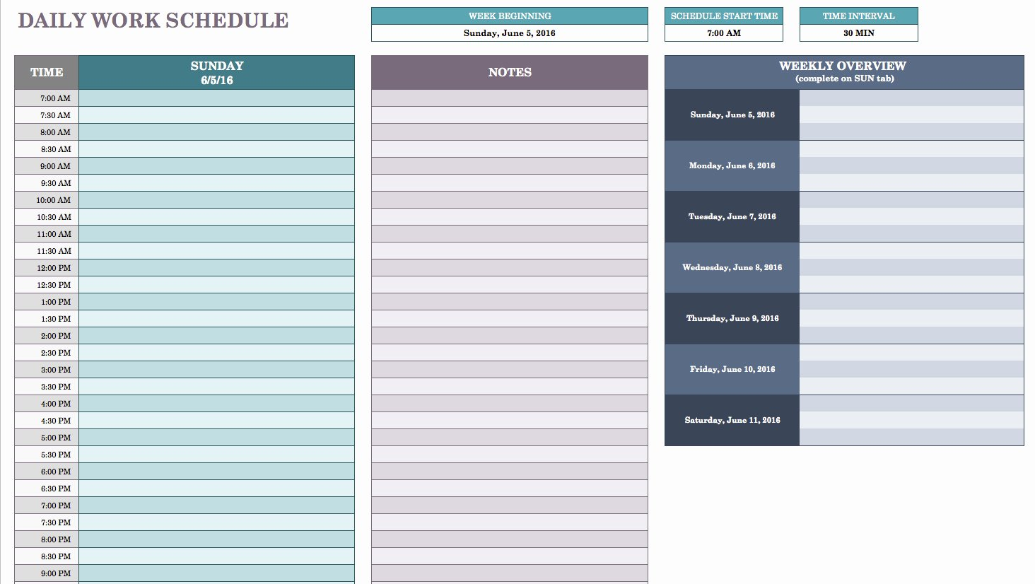 Daily Routine Schedule Template Lovely Free Daily Schedule Templates for Excel Smartsheet