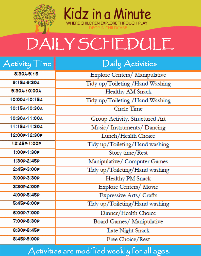 Daily Routine Schedule Template Luxury 11 Daily Schedule Templates Word Excel Pdf formats