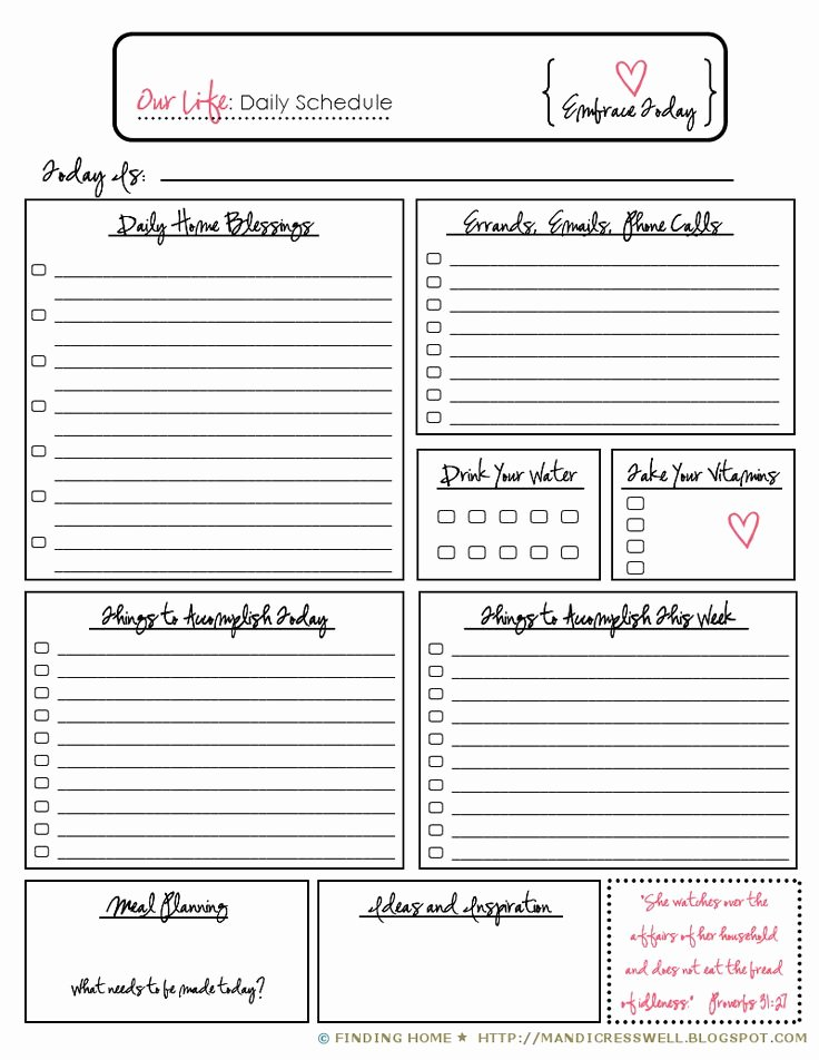 Daily Routine Schedule Template Luxury 25 Best Ideas About Daily Schedule Printable On Pinterest