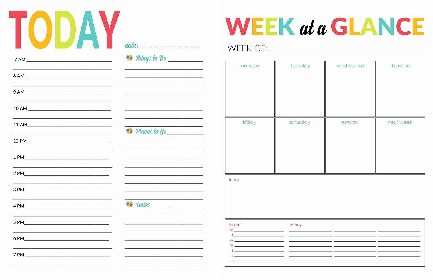 Daily School Schedule Template Best Of 2016 17 School Year Planner Printables