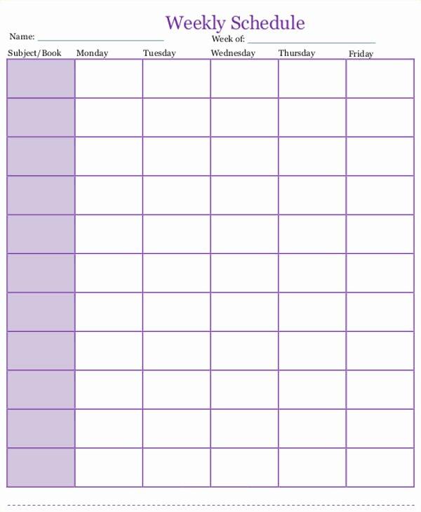 Daily School Schedule Template Best Of 7 Homeschool Schedule Templates