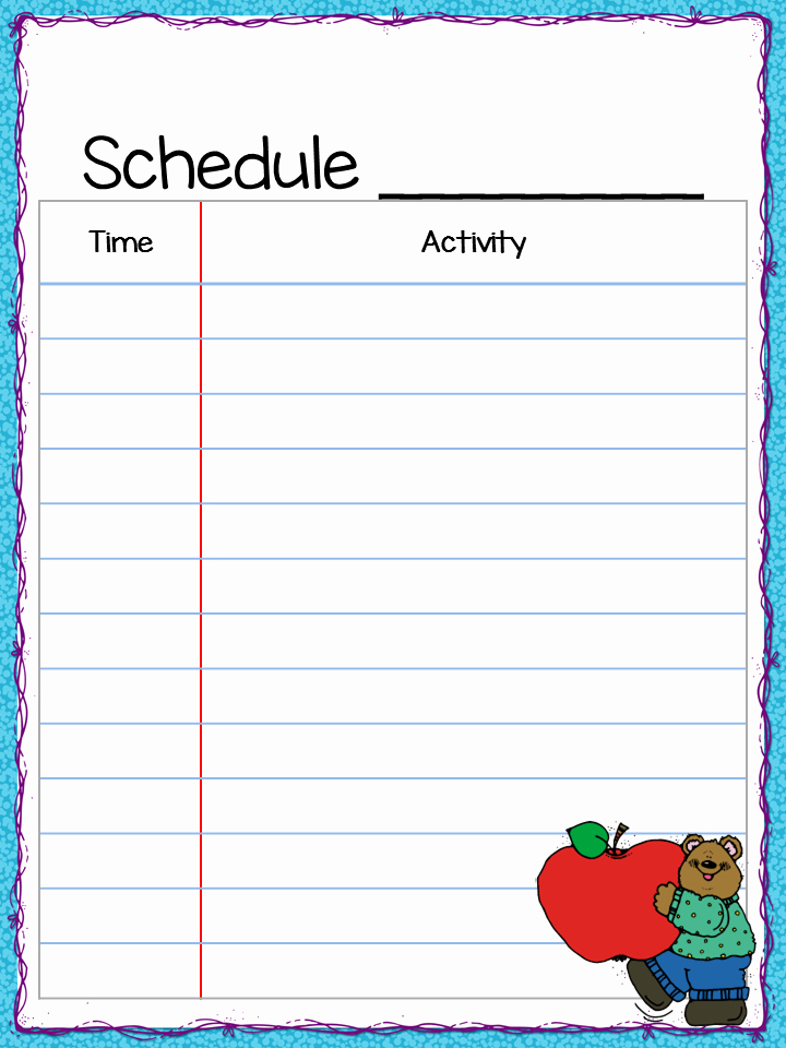 Daily School Schedule Template Elegant Class Schedule Freebie Teacher by the Beach