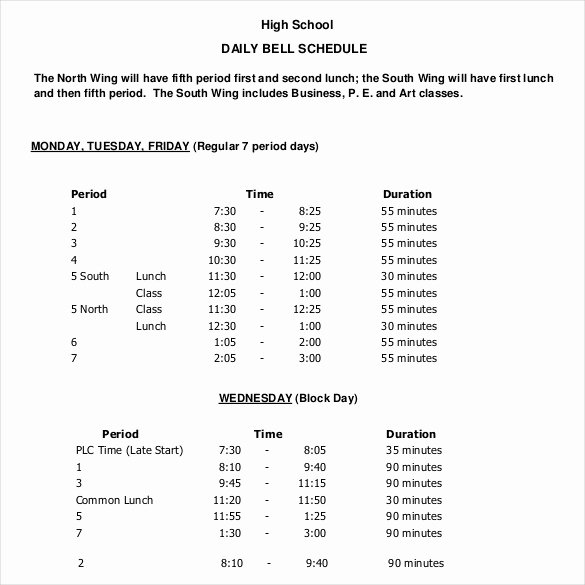 Daily School Schedule Template New Daily Schedule Template 37 Free Word Excel Pdf