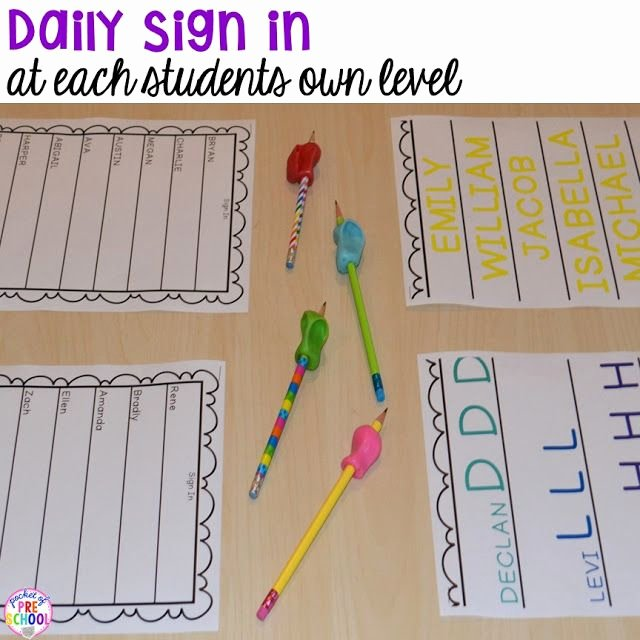 Daily Sign In Sheet for Daycare Beautiful Best 25 Preschool Writing Centers Ideas On Pinterest