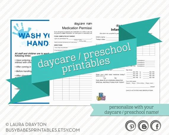 Daily Sign In Sheet for Daycare Elegant Daycare Preschool Printables Hand Washing Sign Infant