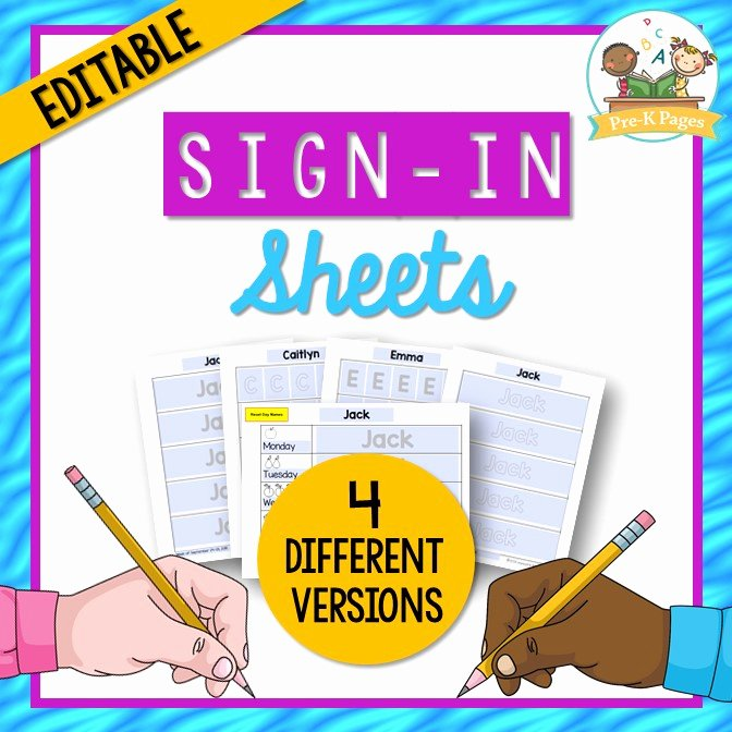 Daily Sign In Sheet for Daycare New Daily Sign In Sheets for Your Preschool Classroom Pre K