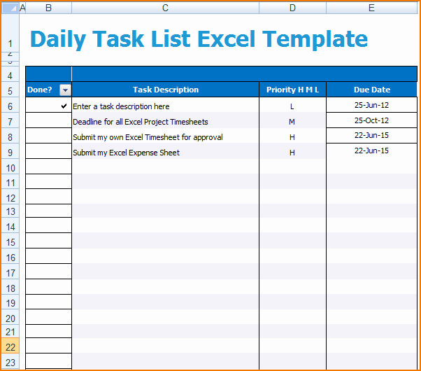 Daily Task List Template Word New 6 Daily Task List Template