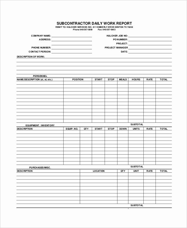 Daily Work Report Template Awesome Sample Daily Work Report Template 22 Free Documents In
