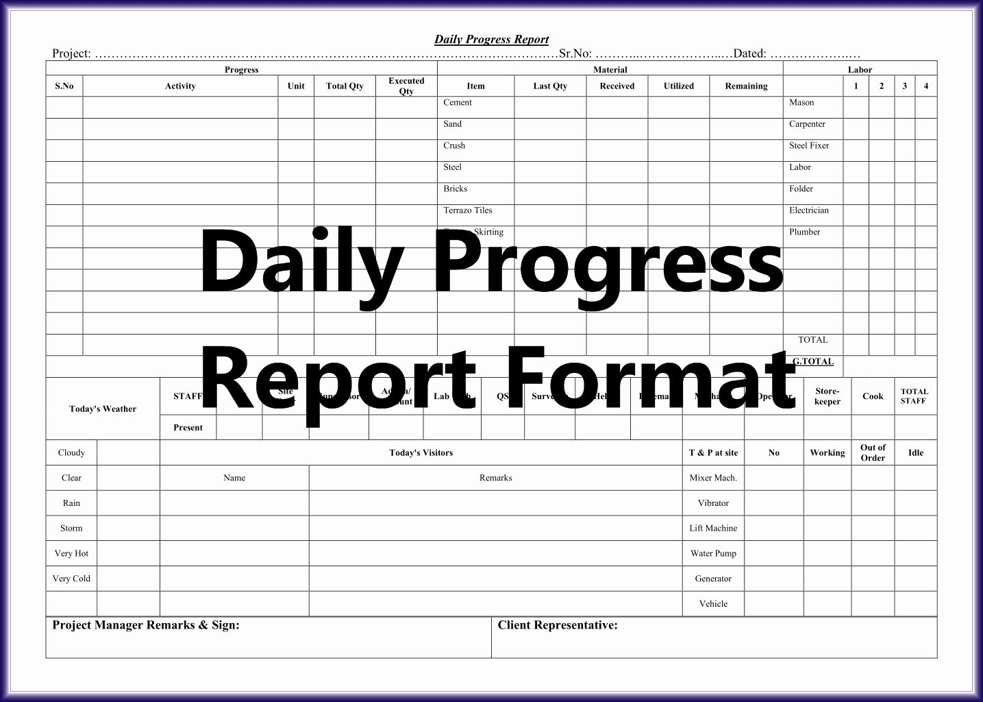 Daily Work Report Template Best Of Daily Work Report format