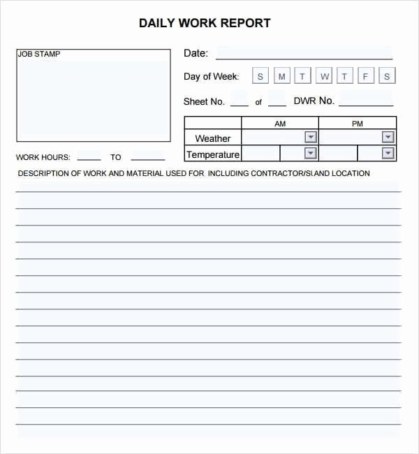 Daily Work Report Template Luxury 10 Daily Report Templates Word Excel Pdf formats