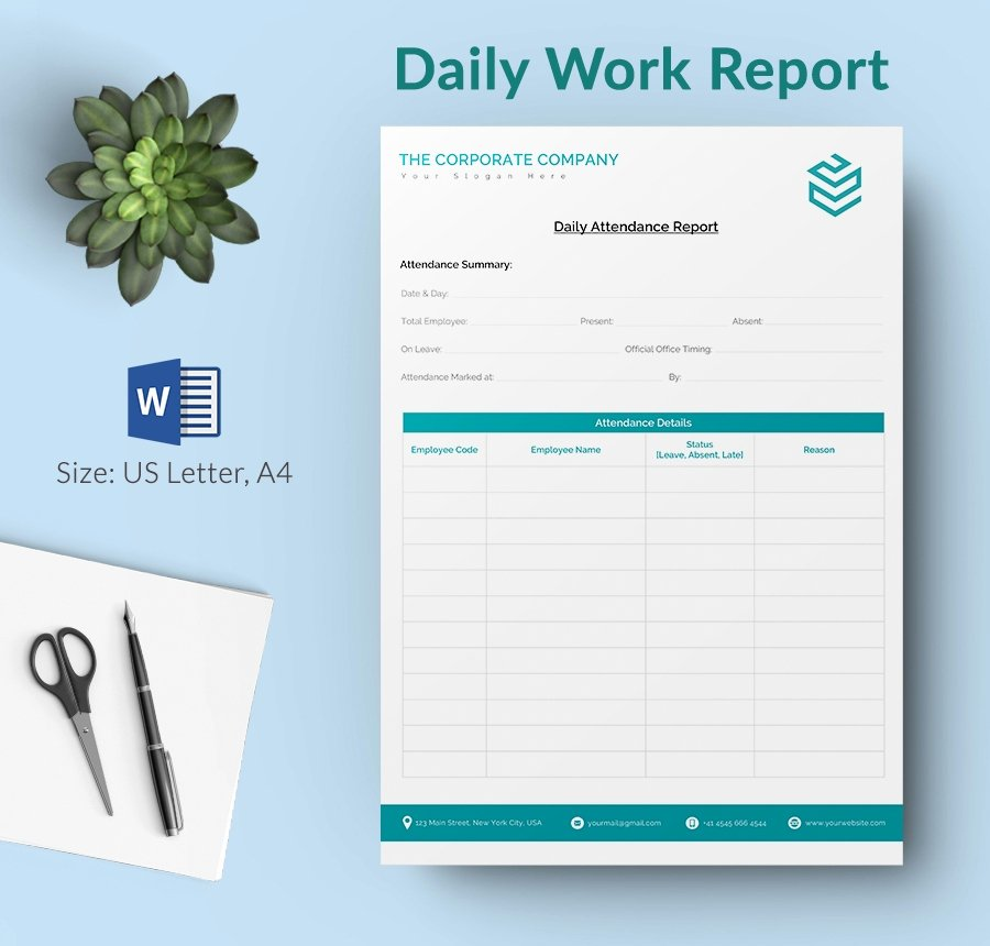 Daily Work Report Template New Daily Report Template 25 Free Word Excel Pdf