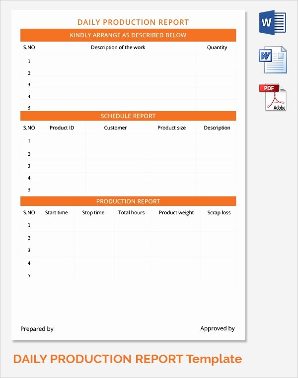 Daily Work Report Template New Sample Daily Work Report Template 22 Free Documents In