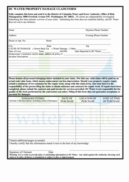 Damage Waiver form Inspirational top Property Damage Release form Templates Free to