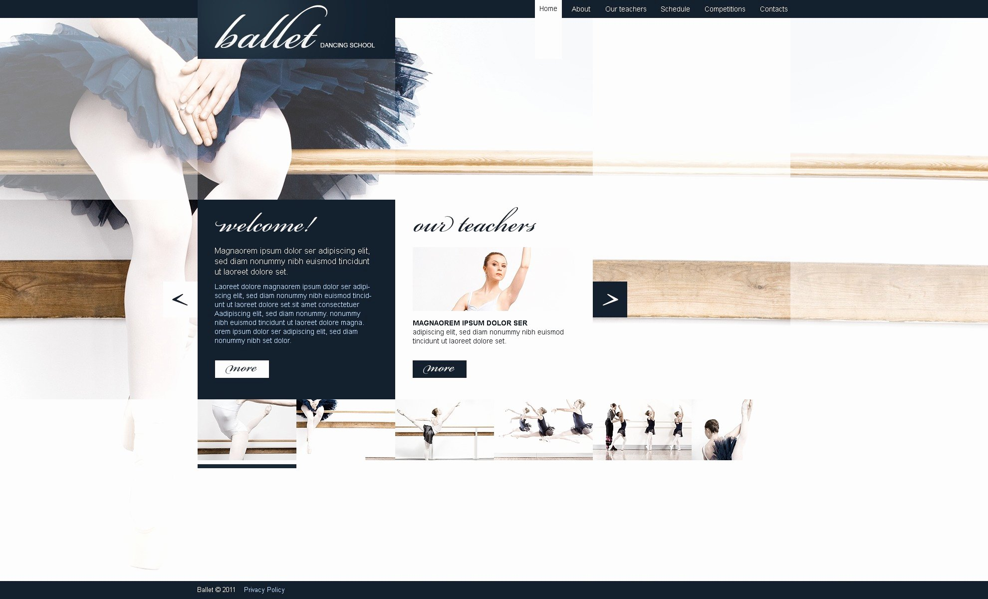 Dance Schedule Template New Website Templates for Dance Studio Free Programs
