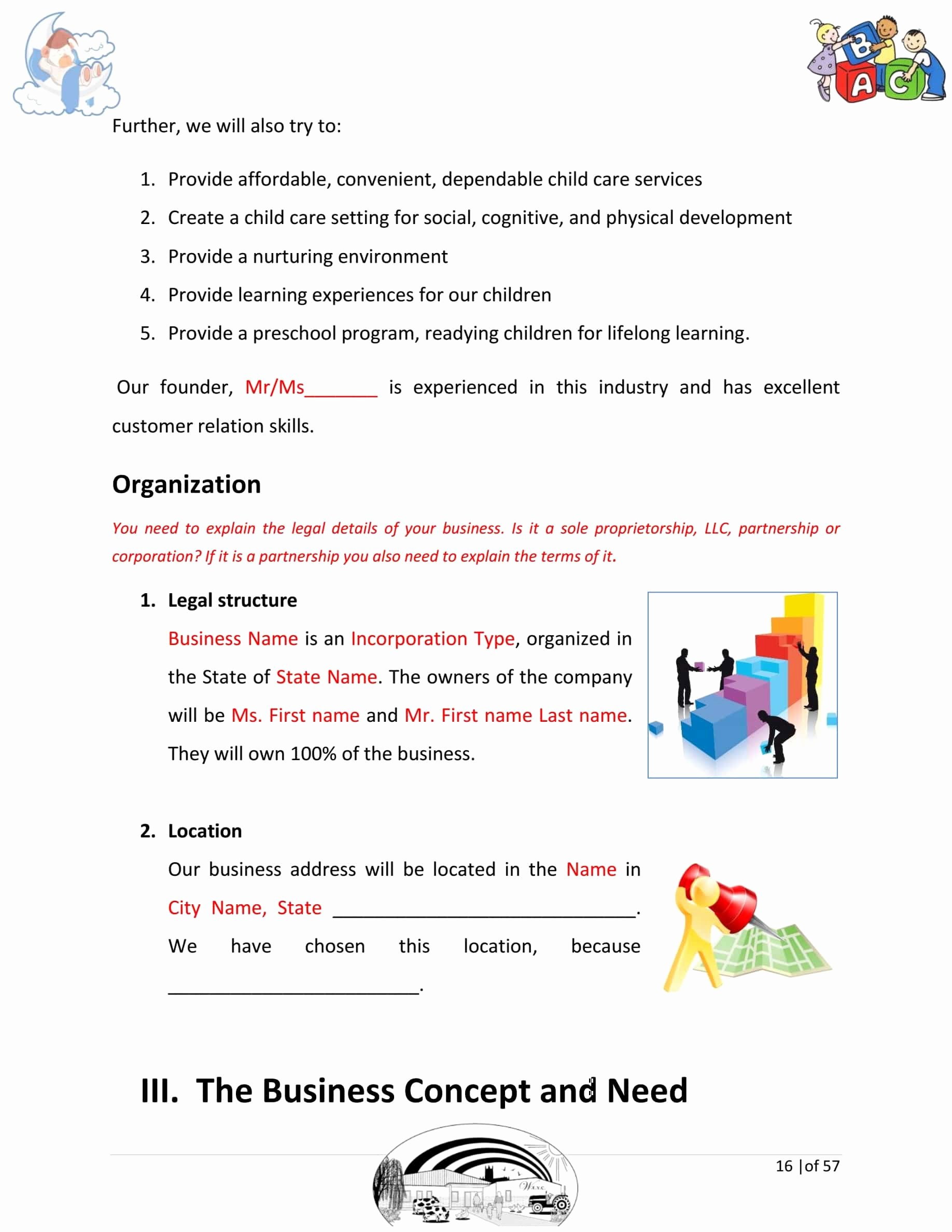Daycare Business Plan Template Free Download New Day Care Business Plan Template Sample Pages Black Box