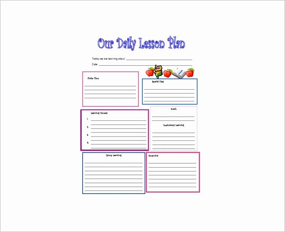 Daycare Lesson Plan Template Elegant Daily Lesson Plan Template 10 Free Word Excel Pdf