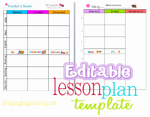 Daycare Lesson Plan Template Lovely Cute Lesson Plan Template… Free Editable Download