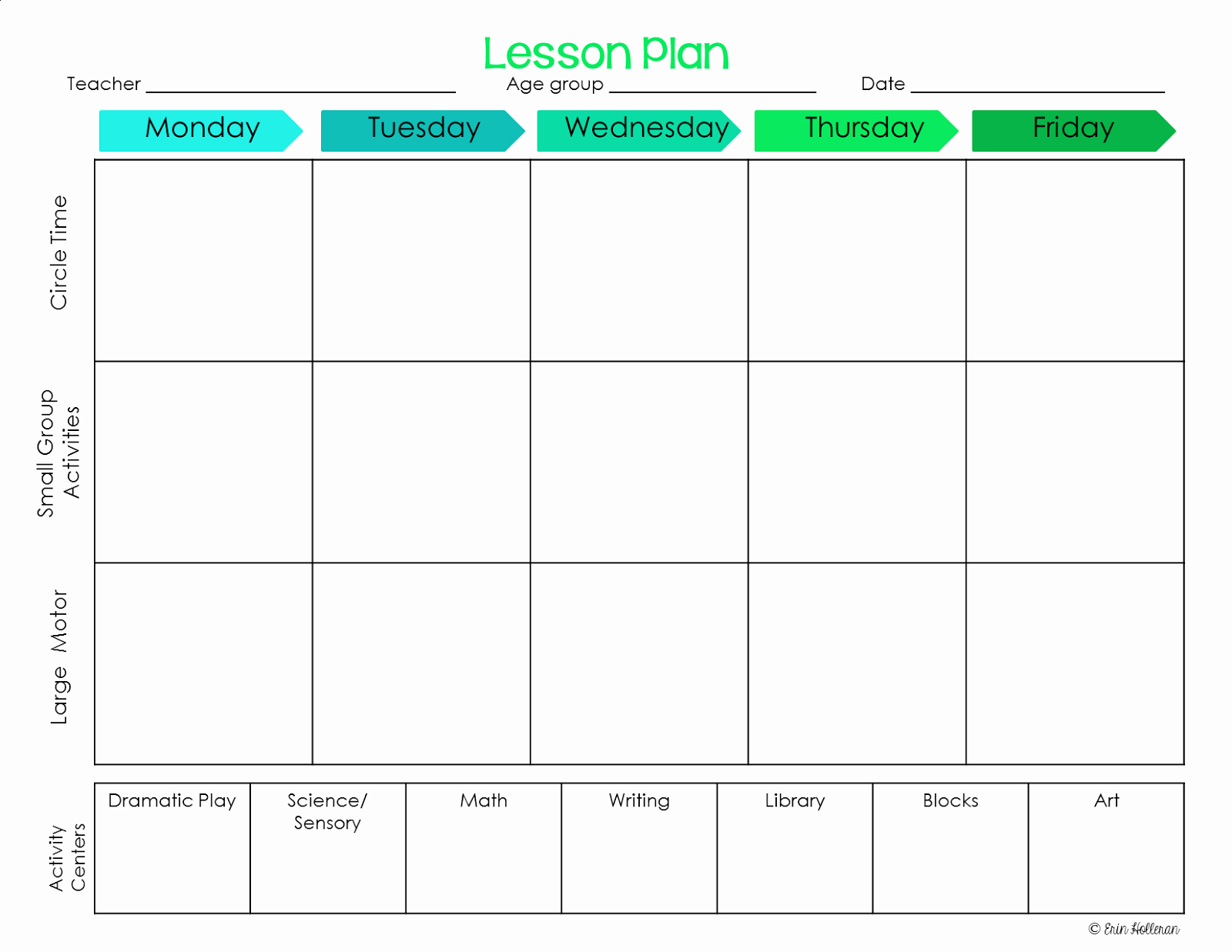 Daycare Lesson Plan Template New Preschool Ponderings Make Your Lesson Plans Work for You