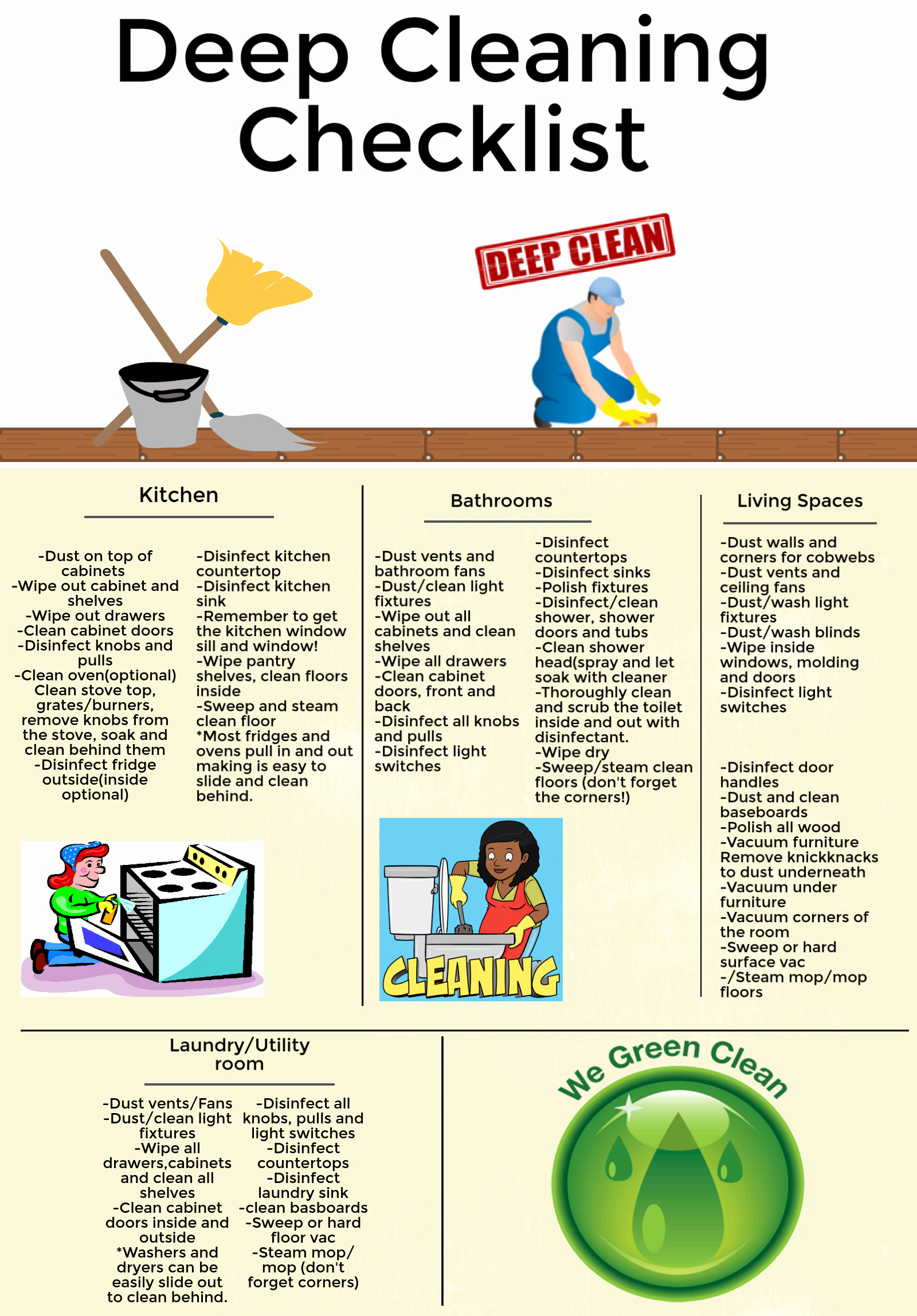 Deep Cleaning Checklist for Housekeeper Elegant What is A Deep Cleaning Pare the Difference