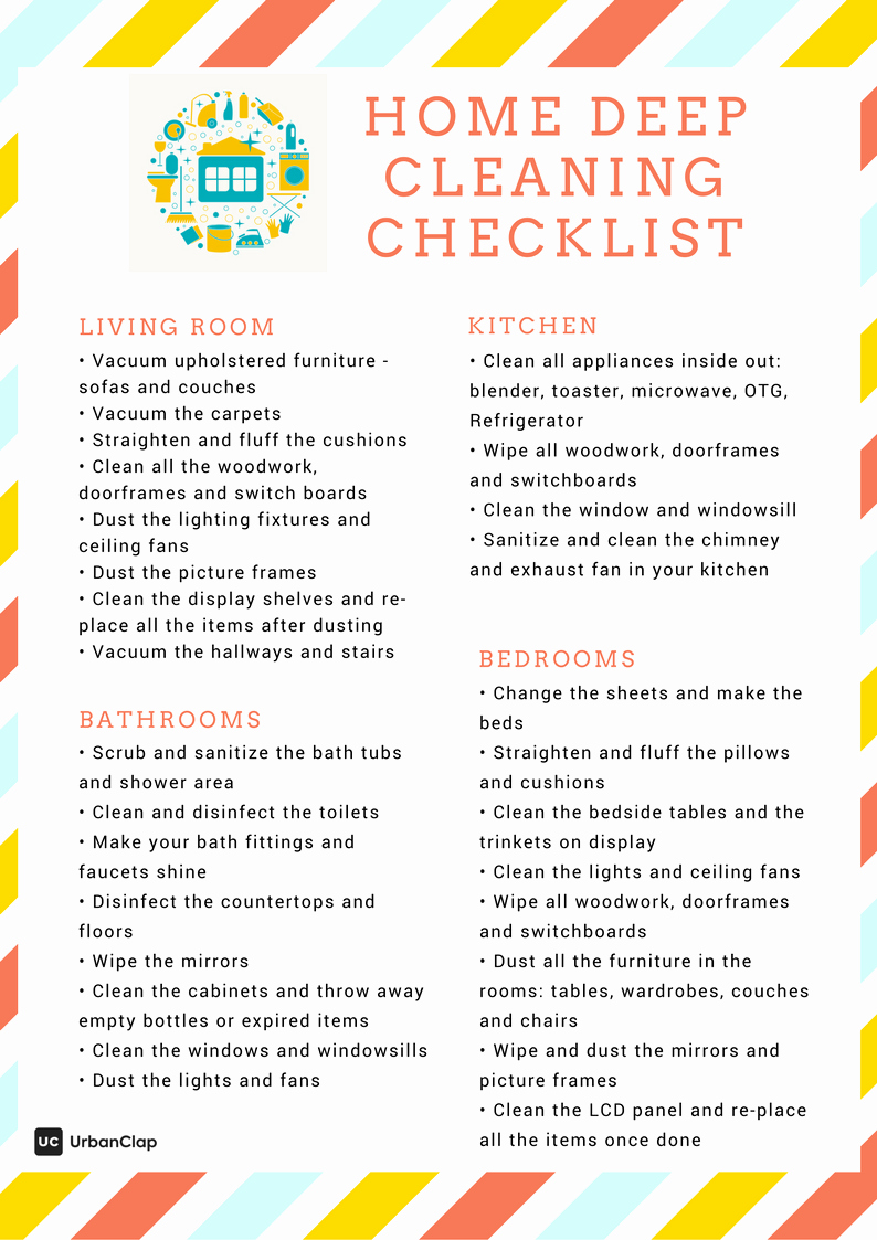 Deep Cleaning Checklist for Housekeeper Fresh How to Clean Like A Pro – the Ultimate Home Deep Cleaning