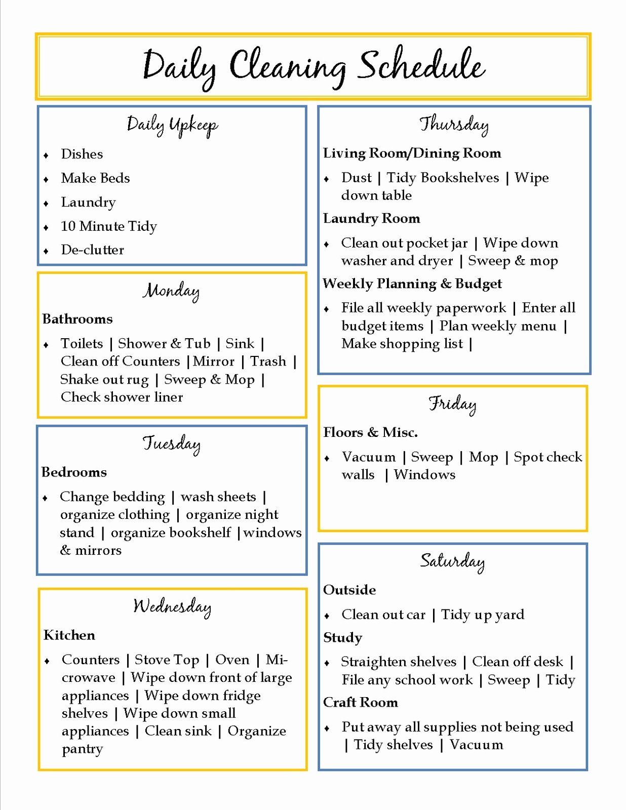 Deep Cleaning Checklist for Housekeeper Inspirational 40 Helpful House Cleaning Checklists for You