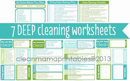 Deep Cleaning Checklist for Housekeeper Inspirational Deep Cleaning Archives Clean Mama