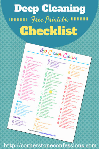 Deep Cleaning Checklist for Housekeeper Luxury 20 Free Cleaning Printables Busy Mom S Helper