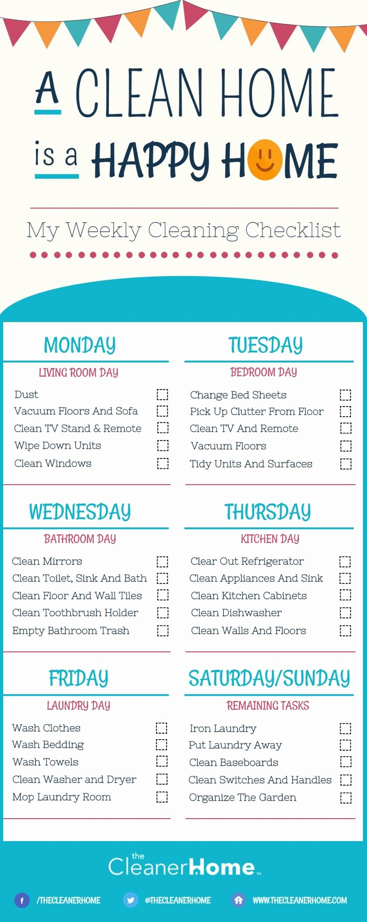 Deep Cleaning Checklist for Housekeeper New Best 25 Weekly Cleaning Charts Ideas On Pinterest