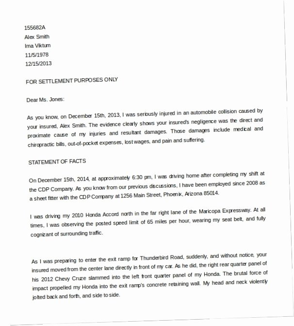 Demand Letter Template for Money Owed New Sample Demand Letter for Car Accident Y3x7 Vehicle