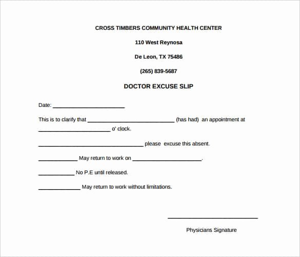 Dental Excuse Letter for Work Awesome 31 Doctors Note Templates Pdf Doc