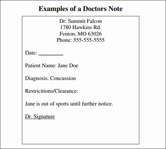 Dental Excuse Letter for Work Luxury 9 Doctor Note Templates Word Excel Pdf formats