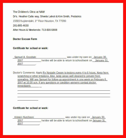 Dental Excuse Letter Fresh Dental Excuse Note Sample