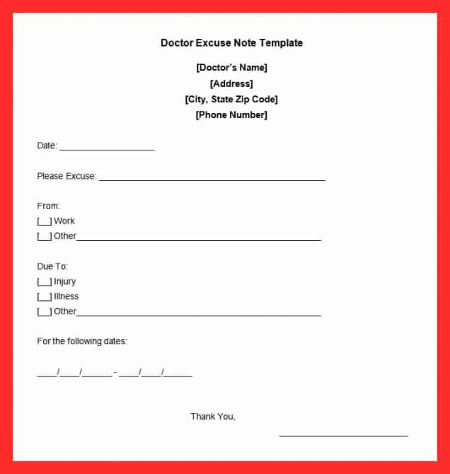 Dental Excuse Letter Fresh Dentist Doctors Note