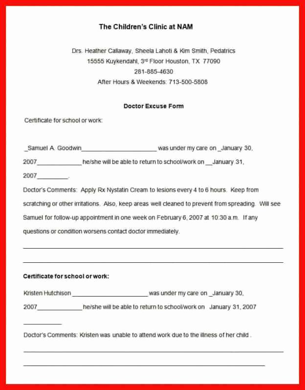 Dental Excuse Letter Luxury Dental Excuse Note Sample