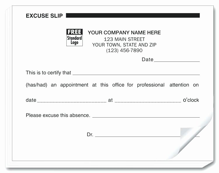 Dental Excuse Note Awesome Return to Work School form Doctor Excuse for – Peero Idea
